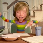Riley enjoying her music (copyright, Pixar, fair use)